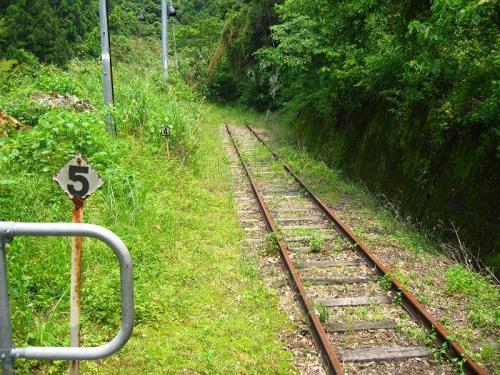 新改駅 行き止まりになっている線路