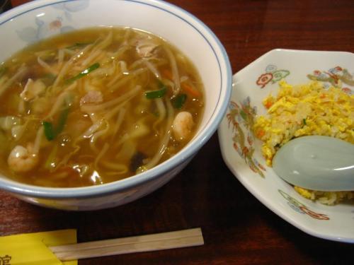 中国家常菜 鳳龍菜館 ちゃんぽんセット