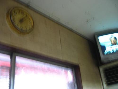 ラーメンショップ夢眠立田店 店内にある時計