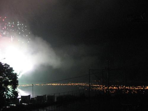 奥物部湖湖水祭 灯篭流し