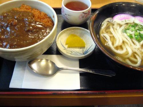 ビックうどん土佐山田店 カツカレー丼+Bセット