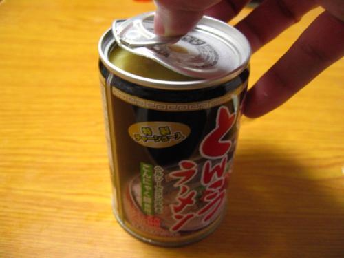ラーメン缶を開けてみた