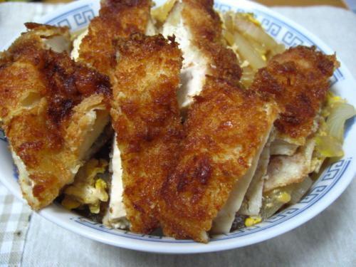 自作・チキンカツ丼