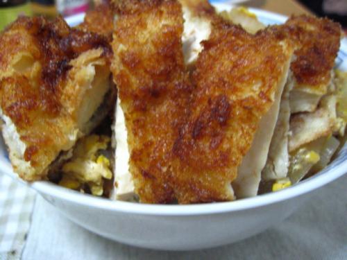 自作・チキンカツ丼 (2)