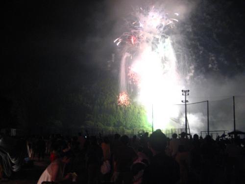 奥物部湖湖水祭2011 花火3