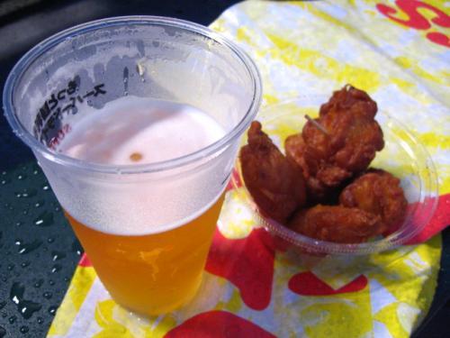 阪神甲子園球場 ビールと唐揚げ