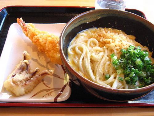 さぬき自家製麺 浜心うどん チーズ玉子かけうどん(大)