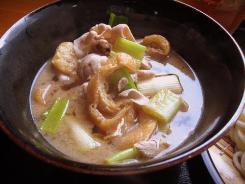 手打うどん吉川 武蔵野風肉汁うどん(つけ麺)大 つけ汁