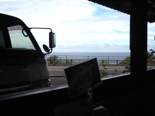 本場手打うどん庄壽庵 窓から見やる太平洋