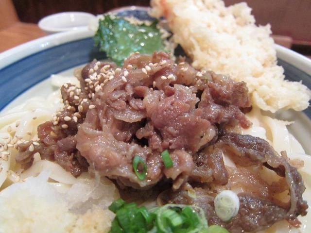 UDON中乃家 えび入り肉ぶっかけ(大盛) 肉アップ