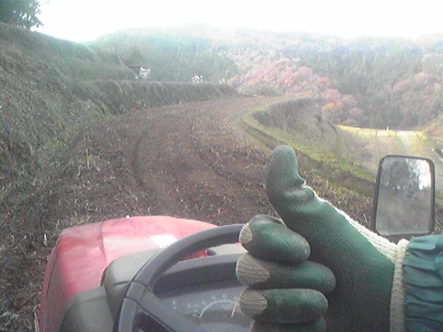 耕作作業中