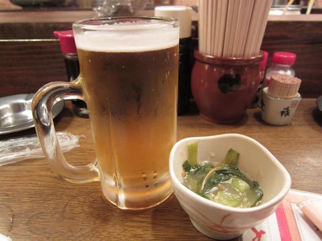 居酒屋赤たぬき 生ビール!