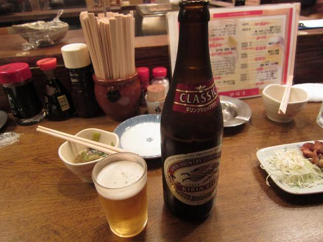 居酒屋赤たぬき 瓶ビール!