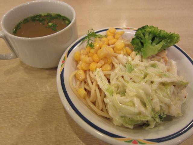 ステーキガスト オニオンスープとサラダ