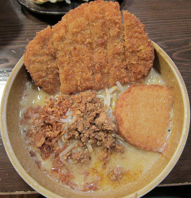 麺屋・國丸。南国店 九州麦味噌 味噌カツらーめん(大盛) スカイビュー