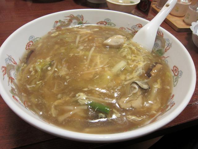 中国家常菜 鳳龍菜館 カキあんかけ麺(大盛) ※冬季限定
