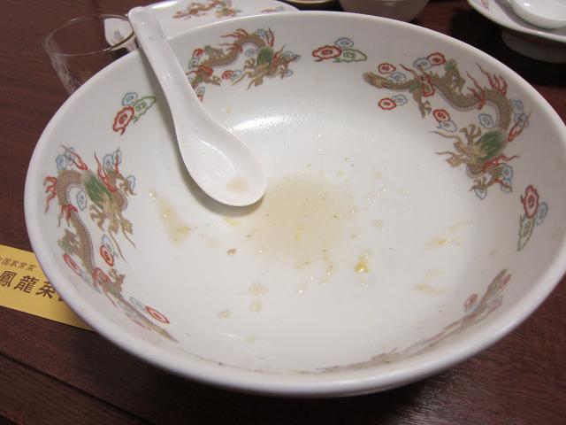 中国家常菜 鳳龍菜館 カキあんかけ麺(大盛) 圧倒的完食!