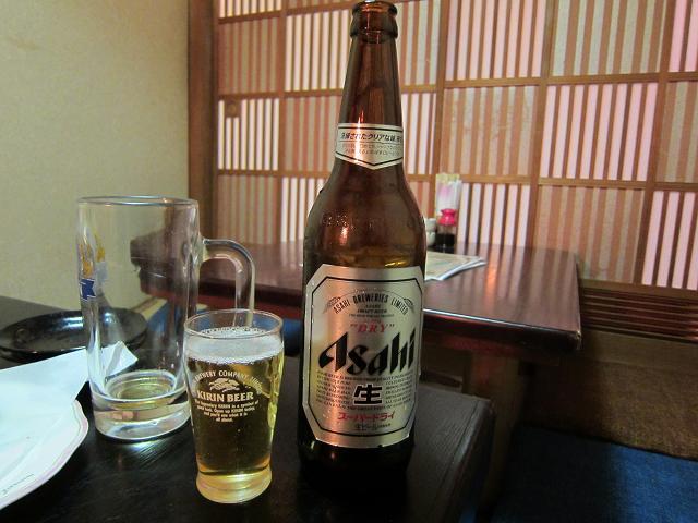 晶栄寿司 瓶ビール!
