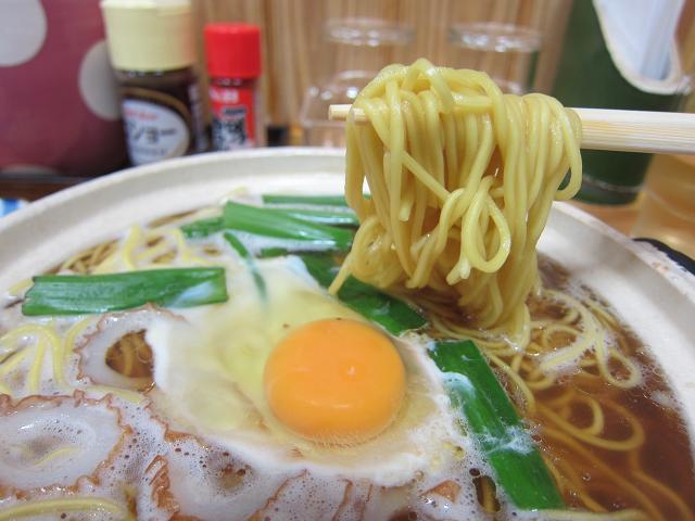 須崎名物鍋焼きラーメン千秋 鍋焼きラーメン 麺アップ
