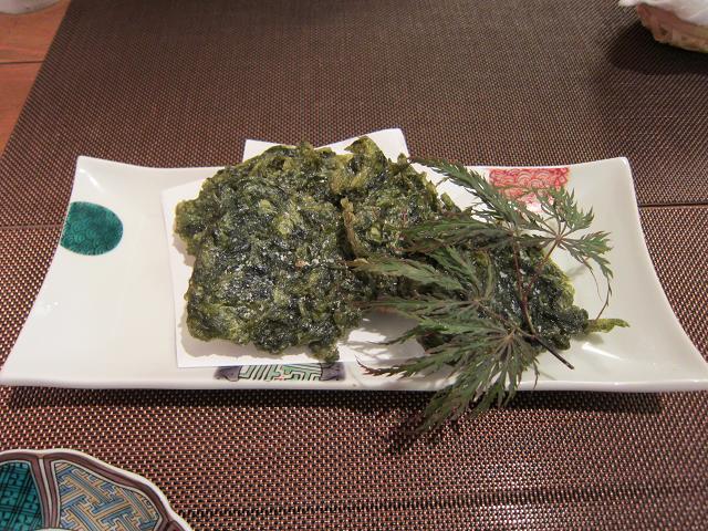 土佐魚彩処にしや 青さのリ天ぷら