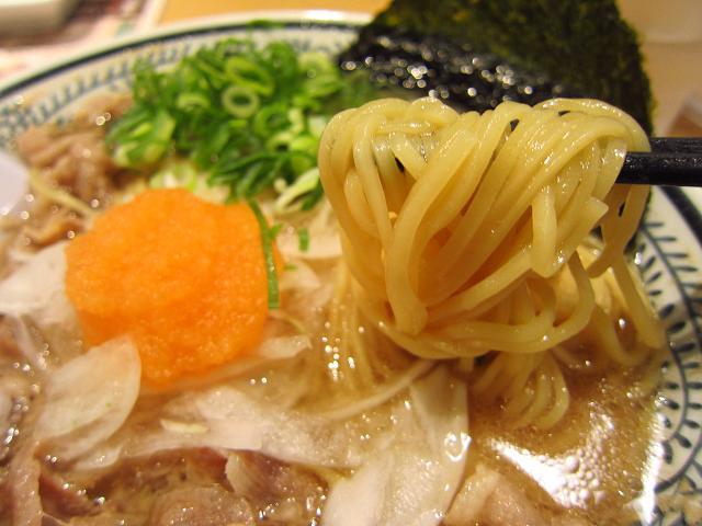 丸源ラーメン高知潮江店 丸源肉そば(肉ダブル)大盛 麺アップ