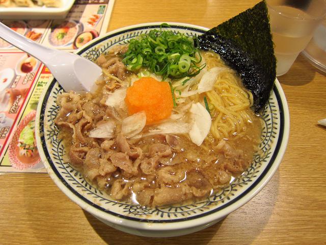 丸源ラーメン高知潮江店 丸源肉そば(肉ダブル)大盛