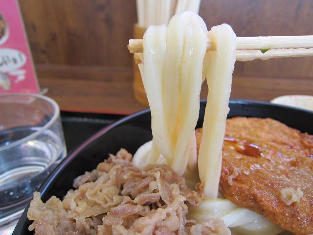 手打ちうどん たも屋南国店 肉しょうゆ(特大) 麺アップ