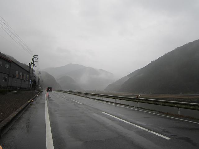 雨と霧の中を・・・