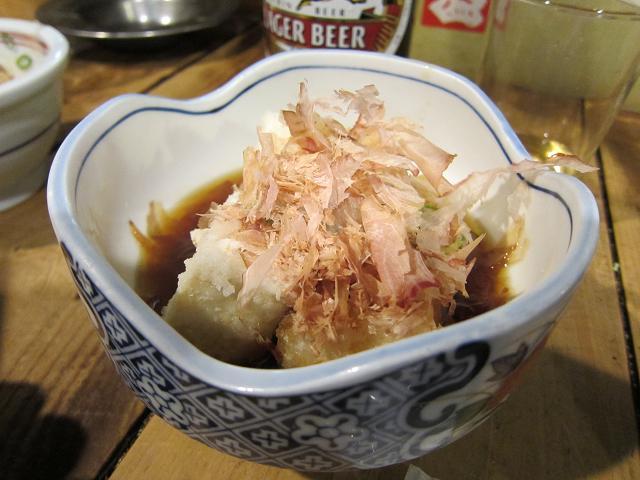 葉牡丹 揚げ出し豆腐