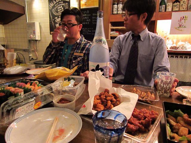 水曜会!新年会! 細川さんと中村さん