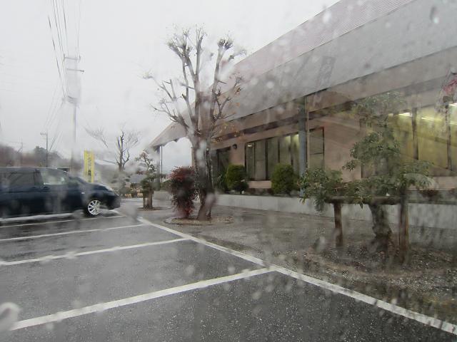 セルフ讃岐うどん屋 大雨の日