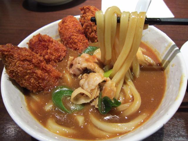 ココイチ野市店 カレーうどん 麺アップ