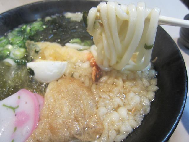 うどん専門二十四万石 五目 麺アップ