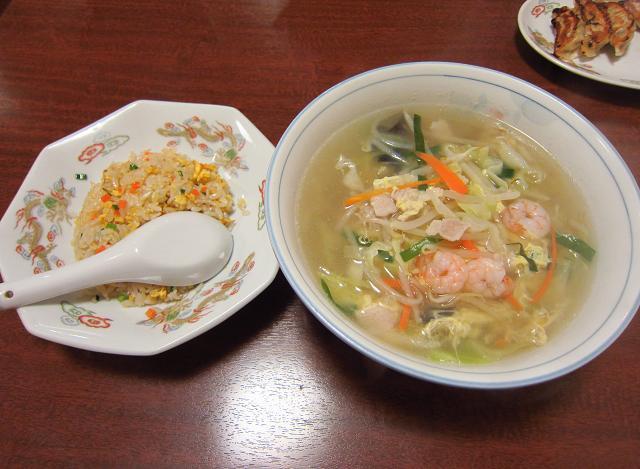 鳳龍菜館 塩ラーメンセット