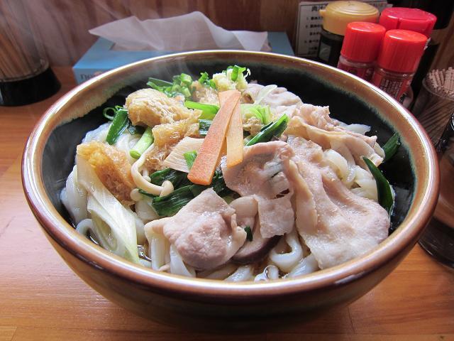 手打うどん吉川 肉汁うどん・野菜ちゃんぽん(特大)