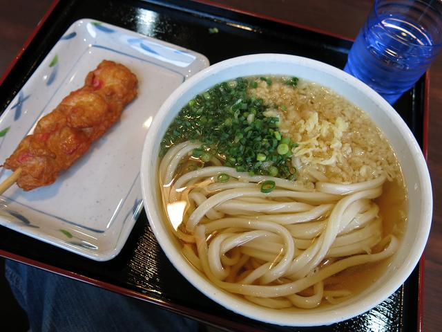 桃山製麺所 冷やかけ(大)&紅生姜天
