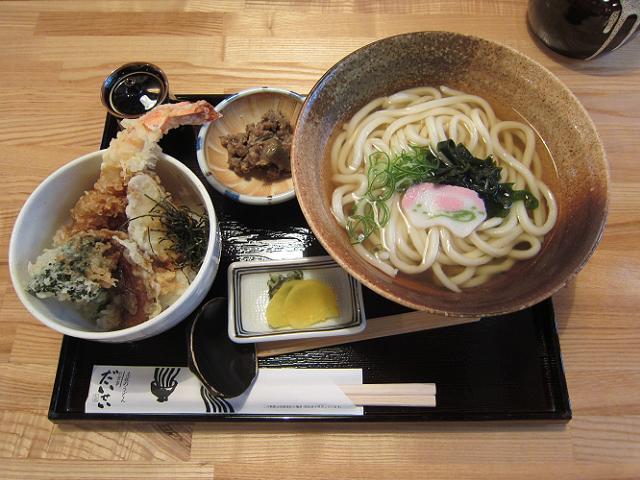 お食事だいせい ミニ天丼とおうどんのセット(大盛)