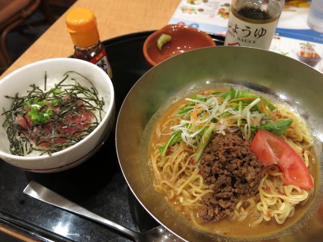 ガスト 高知野市店 「シャキシャキ野菜の冷やし担々麺・ミニまぐろご飯セット」