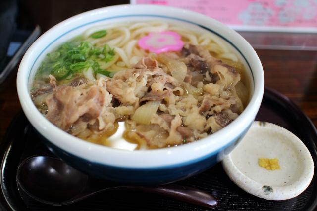 真田・肉うどん1