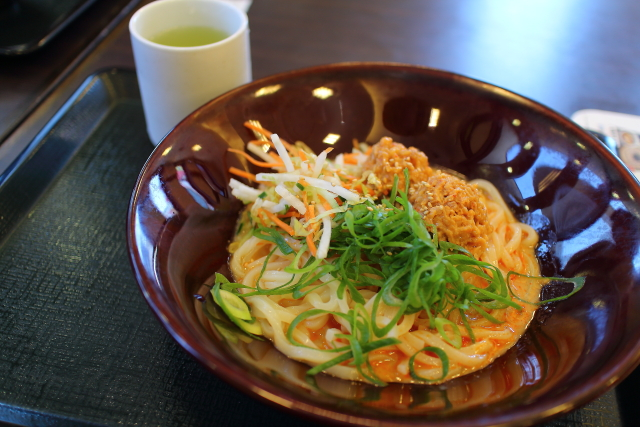 なか卯・冷やし坦々・親子丼3