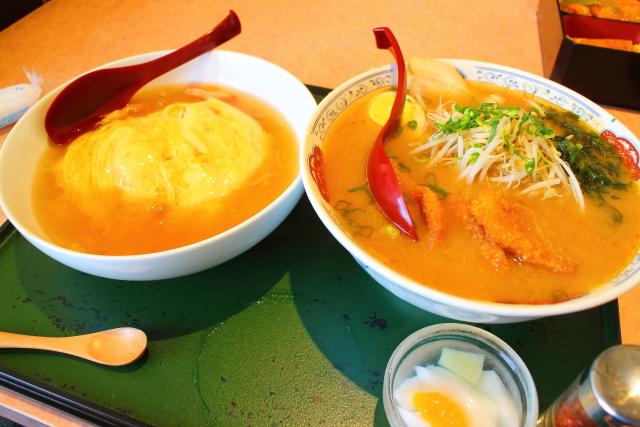 大盛!男子飯!高知市薊野「暖家」味噌カツラーメン天津飯セット