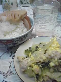 夏の昼にありがちなオバ=ア料理