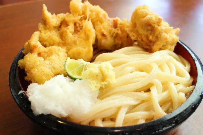 丸亀製麺・タル鶏天ぶっかけ1