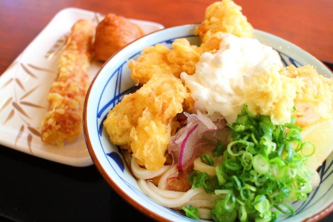 丸亀製麺・タル鶏天ぶっかけ4