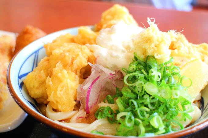 丸亀製麺タル鶏天ぶっかけ