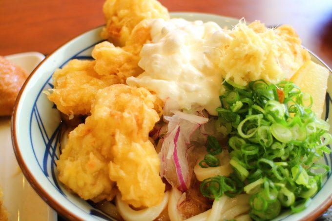 丸亀製麺の期間限定メニュー「タル鶏天ぶっかけ」と「鶏天ざる」
