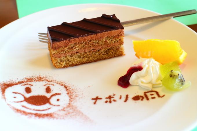 南国市浜改田 ナポリの風 デザートのスイーツ シフォンケーキ