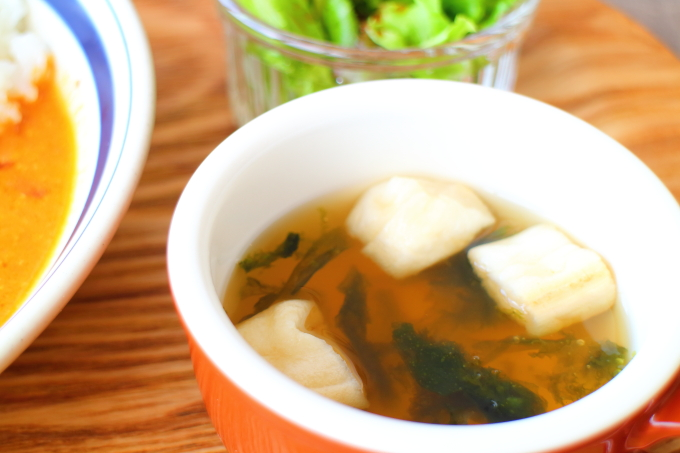ニールマーレのランチ 青さ海苔のスープ