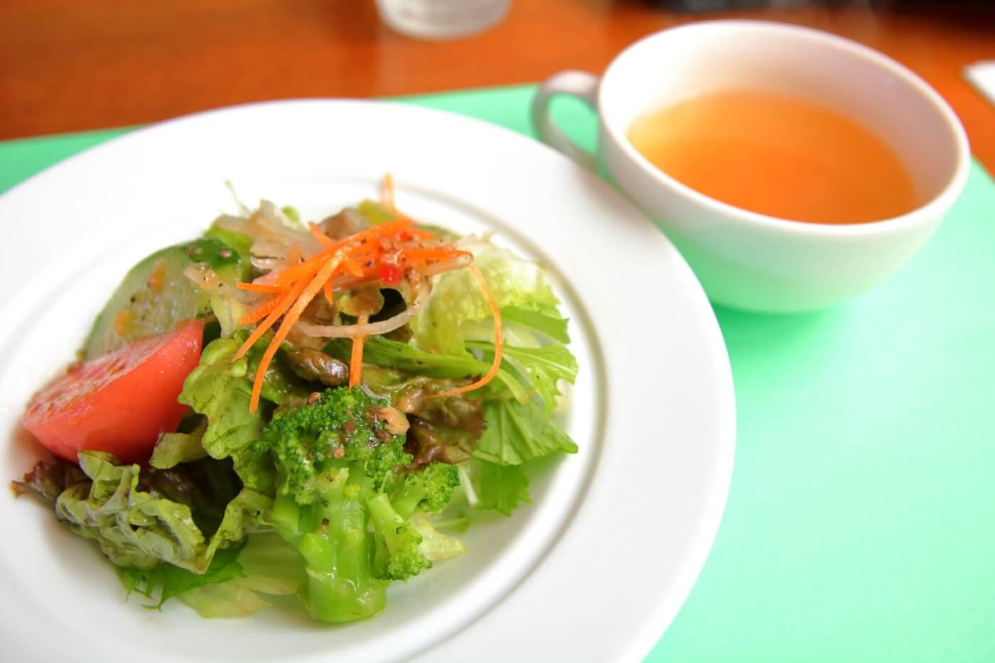 南国市浜改田 ナポリの風 パスタセットのサラダ
