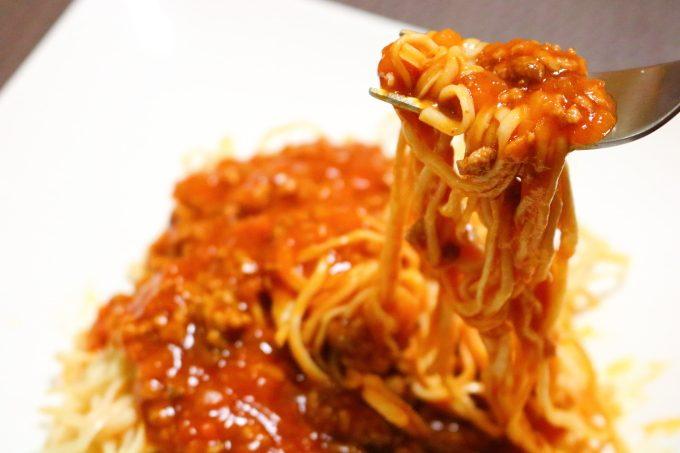 低糖質麺「ソイドル」簡単ミートソースパスタ・レシピ